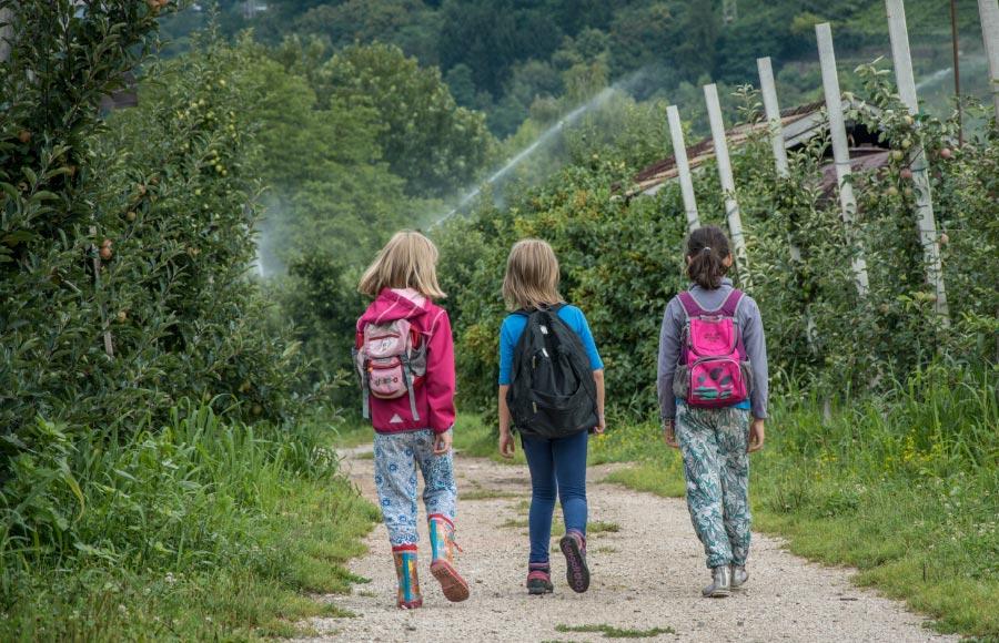 Angebot Outdoor – SOS-Feriendorf Caldonazzo: Beliebte Outdoor-Erlebnisse sind Bergwanderungen, Sonnenaufgangswanderungen, Klettern im Flussbett, Flussbett- Erlebnisse, Lagerfeuer, Flossbau, Bogenschießen.